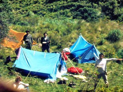 COFAN TRIBE HISTORY: FAO natural areas exploration Ecuador, Cayambe 1975 historical slide scan.